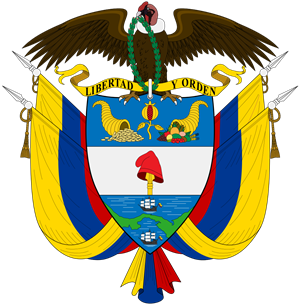The coat of arms of Colombia