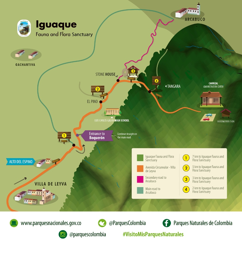 In Iguaque Fauna and Flora Sanctuary, the visitor can find the Sacred Lagoon of Iguaque that