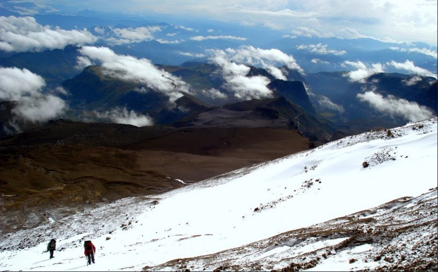 To climb to the snows of El Tolima, start from Ibague and go to Juntas, which is as far as you can take a vehicle