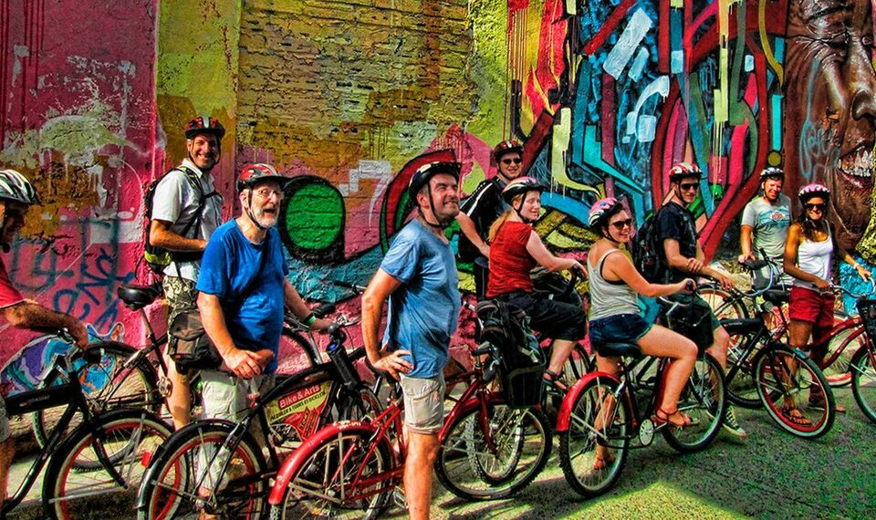 Ride a bike around Cartagena and learn about its history and art scene